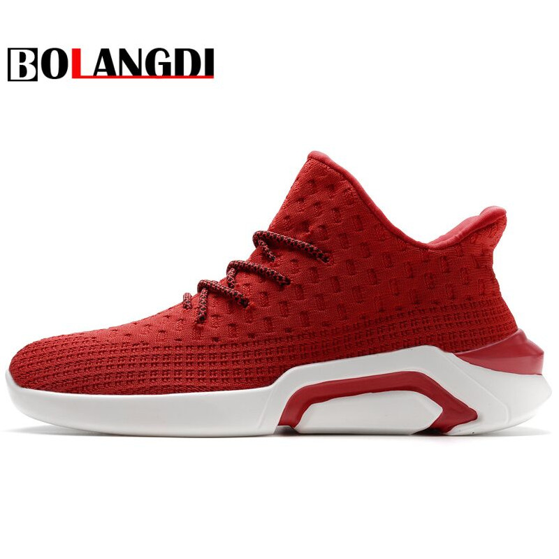 BOLANGDI 2018 Spring Men Sneakers Breathable Air mesh Running shoes Male Sport shoes Man Light Trainers outdoor Walking Sneakers