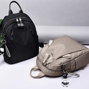 Image 2 - Женский водонепроницаемый рюкзак Mochilas mujer, повседневный рюкзак из ткани Оксфорд для путешествий, 2019