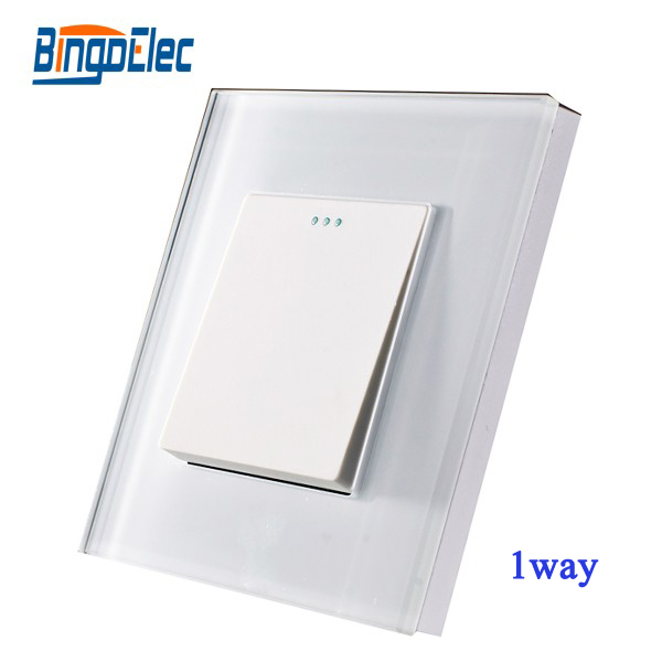 EU/UK standard 1gang 1way switch,mechanical switch,toughened glass panel,AC110-250V,Hot sale bingoelec 1gang 2way light switch black glass panel touch smart switch eu uk standard ac110 250v hot sale