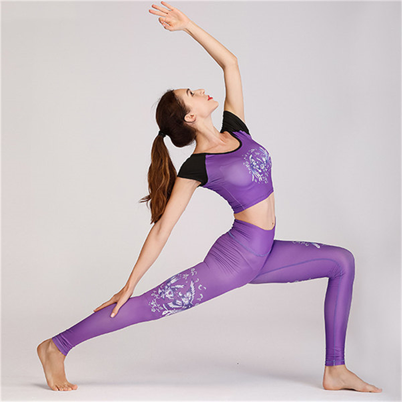 Women Yoga Workout Fitness Suit