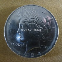 90% Silver 1934 D Peace Dollar Copy Coins