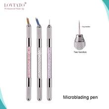 Two Function Manual Pen Permanent Makeup Manual Tattoo Microblading Pen With 2blades Tebori Fog Manual Pen
