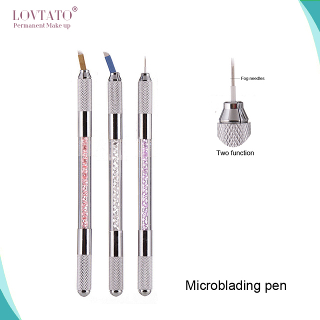 Two Function Manual Pen Permanent Makeup Manual Tattoo Microblading Pen With 2blades Tebori Fog Manual Pen