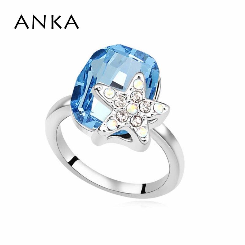 1126ed213bf ANKA Jóias Novas Vendas Limitada Na Moda Do Vintage Estrelas Anel de  Cristal Genuíno Principal Pedra Cristais de Swarovski  106575