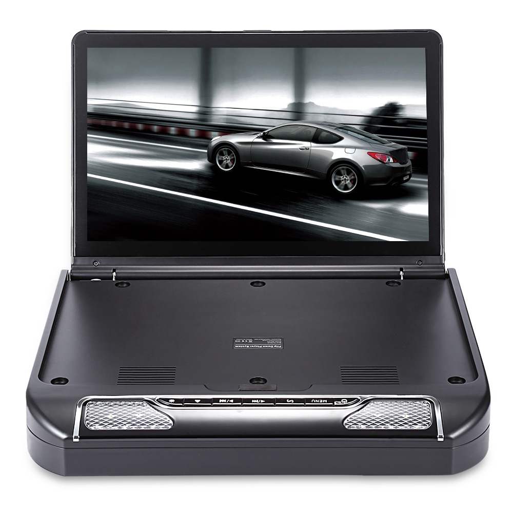 13.3 Inch OS - 1336D Roof Mount 1080P DVD Player System with USB IR FM Transmitter Multi-language Wireless games
