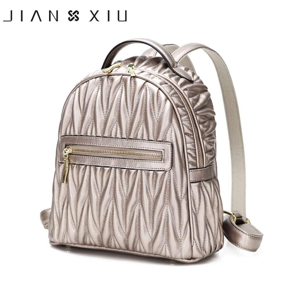 JIANXIU Women Backpack Pu Leather School Bags Mochilas Mochila Feminina Bolsas Mujer Bagpack Backpacks Rugzak 2018 Back Pack Bag doodoo fashion streaks women casual bear backpacks pu leather school bag for girl travel bags mochilas feminina d532
