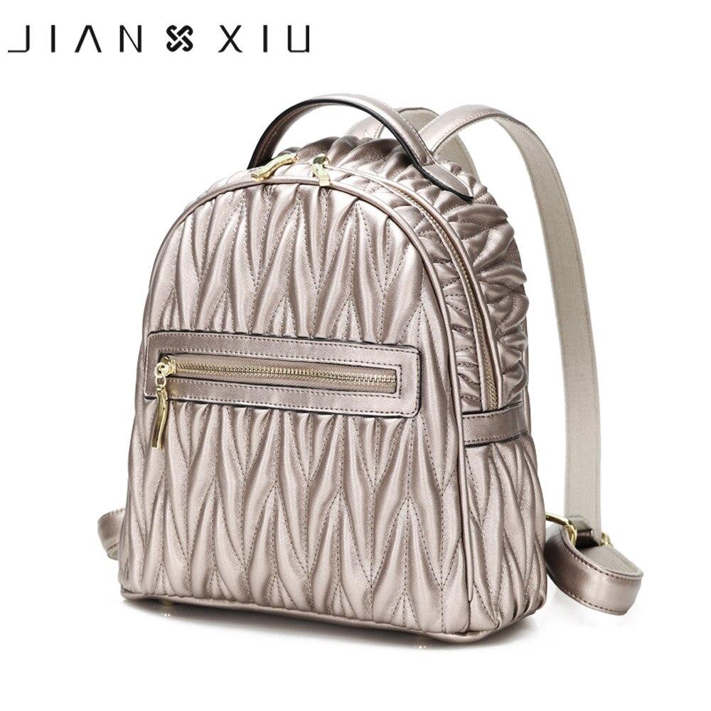 JIANXIU Women Backpack Pu Leather School Bags Mochilas Mochila Feminina Bolsas Mujer Bagpack Backpacks Rugzak 2018 Back Pack Bag