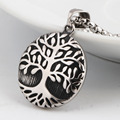 Tree Of Life Round 316L Stainless Steel Pendant Necklace Casting Fashion Jewelry For Men Women Ladies Wholesale