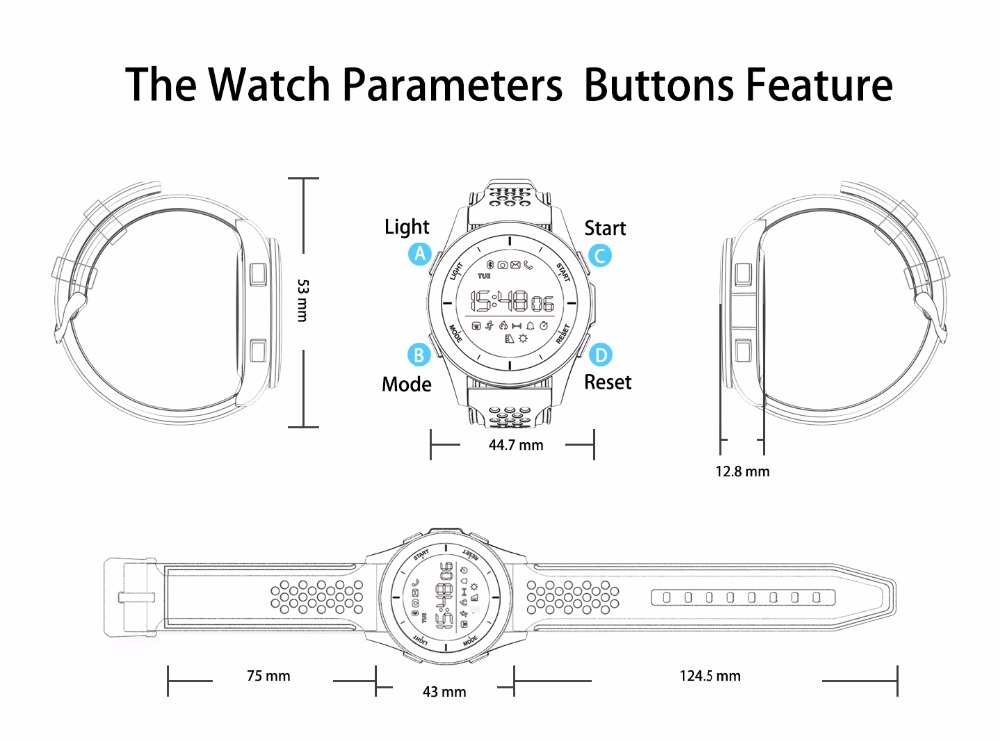 DTNO.1 F3 Smart Watch for Sports Health tracker (11)