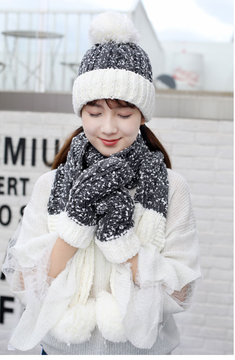 at and scarf set hat and scarf women\`s knitted hat and scarf for women Hat & Glove Sets hat and scarf set winter hat and scarf sets (9)