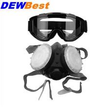 DEWBest 1008 однофильтрующая противогаз, противогаз на половину лица, конусная силиконовая противогаз маска, промышленные химические защитные маски