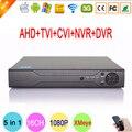 Hi3521A Chip de 16 Canais em tempo real 16CH 1080 P 2MP Câmera De Vigilância de 5 em 1 Híbrido NVR AHD CCTV CVI TVi DVR Frete Grátis para rússia
