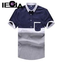 Casual Shirt Men Brand Clothing Plus Size 5XL 6XL 7XL 8XL Fat Guy Short Sleeve Shirts Blue Gray Stitching Man Summer Dress Tops