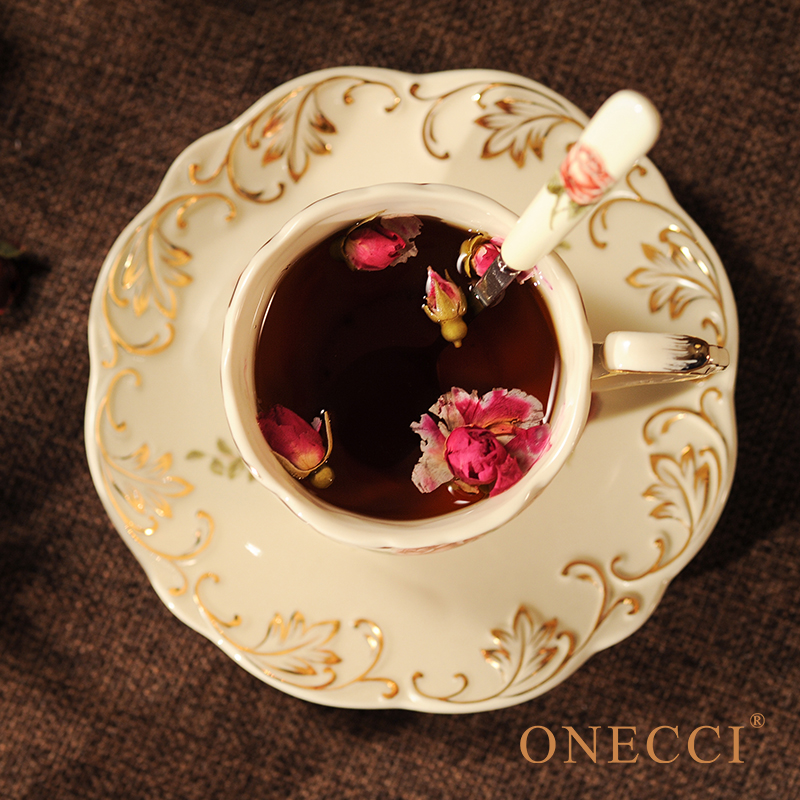 Creative European Porcelain Coffee Cups Set China Chinese Wedding Tea Set Home Decoration Accessories 3