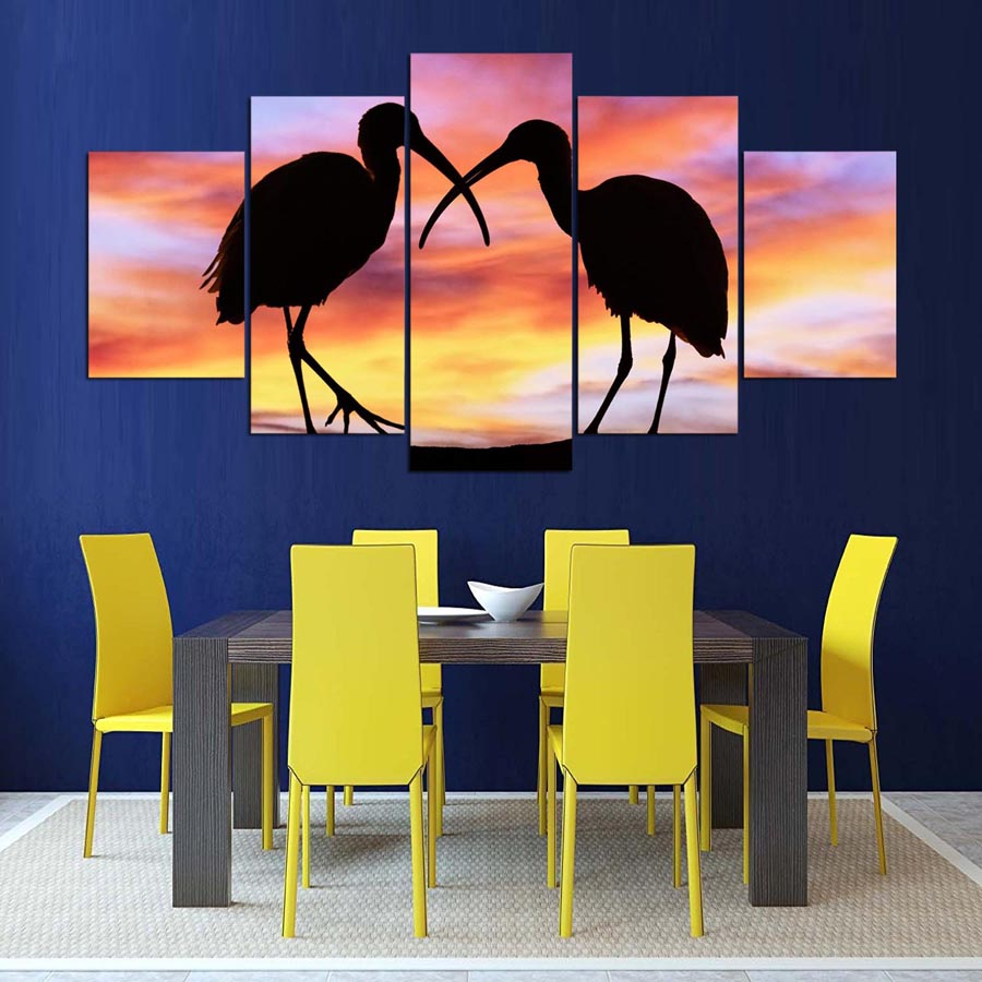 Canvas HD Prints Pictures Home Decor Wall Art Framework 5 Pieces ...