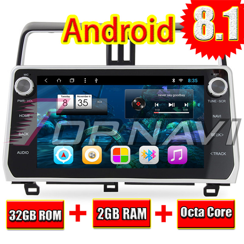 Car 2 dIN GPS Navigation Player for Toyota Prado 2017 2018 Android 8.1 2G 32G Auto Multimedia TOPNAVI Radio Octa Core 10.2Car 2 dIN GPS Navigation Player for Toyota Prado 2017 2018 Android 8.1 2G 32G Auto Multimedia TOPNAVI Radio Octa Core 10.2