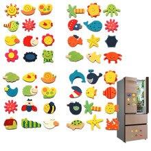 12 шт./лот, деревянные магниты на холодильник, наклейки на холодильник, Мультяшные животные, красочные детские игрушки для детей, детские развивающие игрушки, Скидка 40
