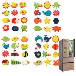 12 шт./лот деревянный магнит на холодильник наклейки Животные мультфильм красочные детские игрушки для детей детские развивающие Скидка 40%