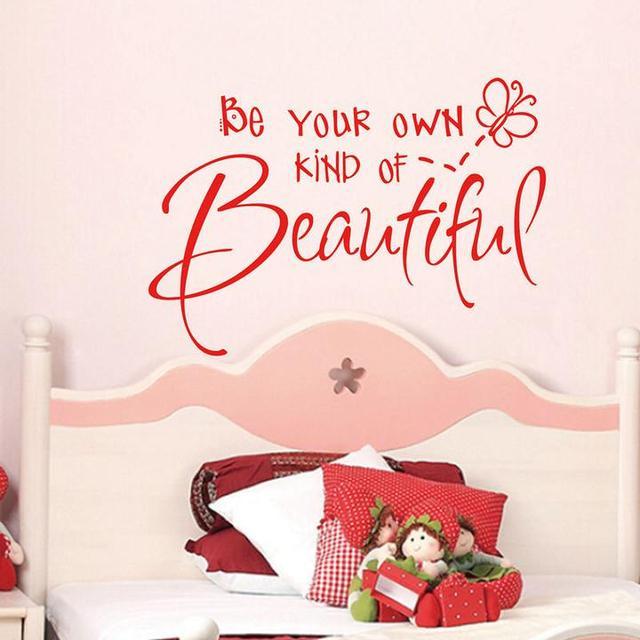 US $5.94 15% OFF Ihre Eigenen Art Von Schönen Wandaufkleber wohnzimmer  schlafzimmer Deck kleiderschrank leuchtet ihre schöne wand Vinyl Aufkleber  ...