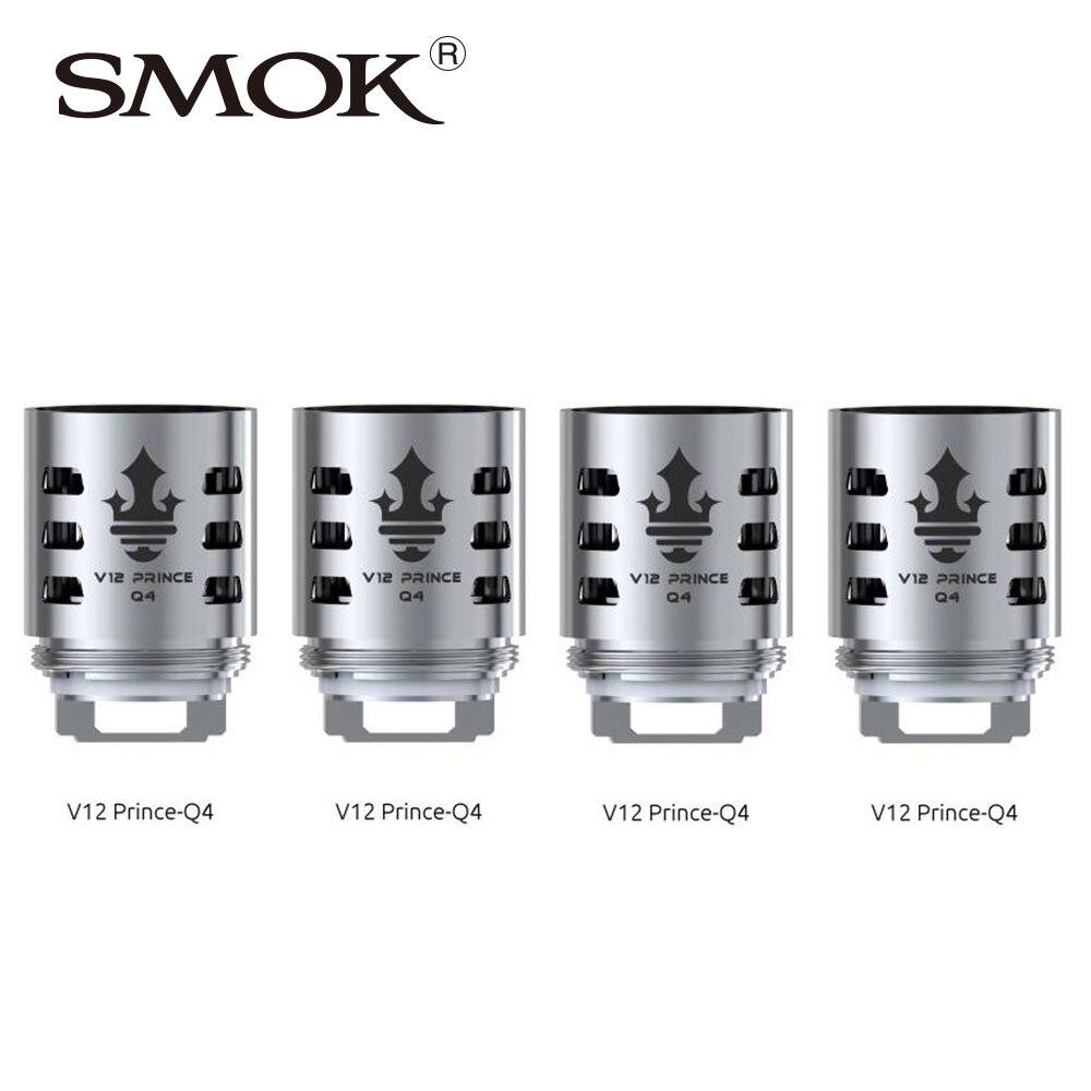 6pcs SMOK TFV12 PRINCE Replacement Coil Q4/X6/T10/M4/Dual Mesh/ Max Mesh/Strip Coil All Kinds for Tfv12 Prince Tank Atomizer база tfv12