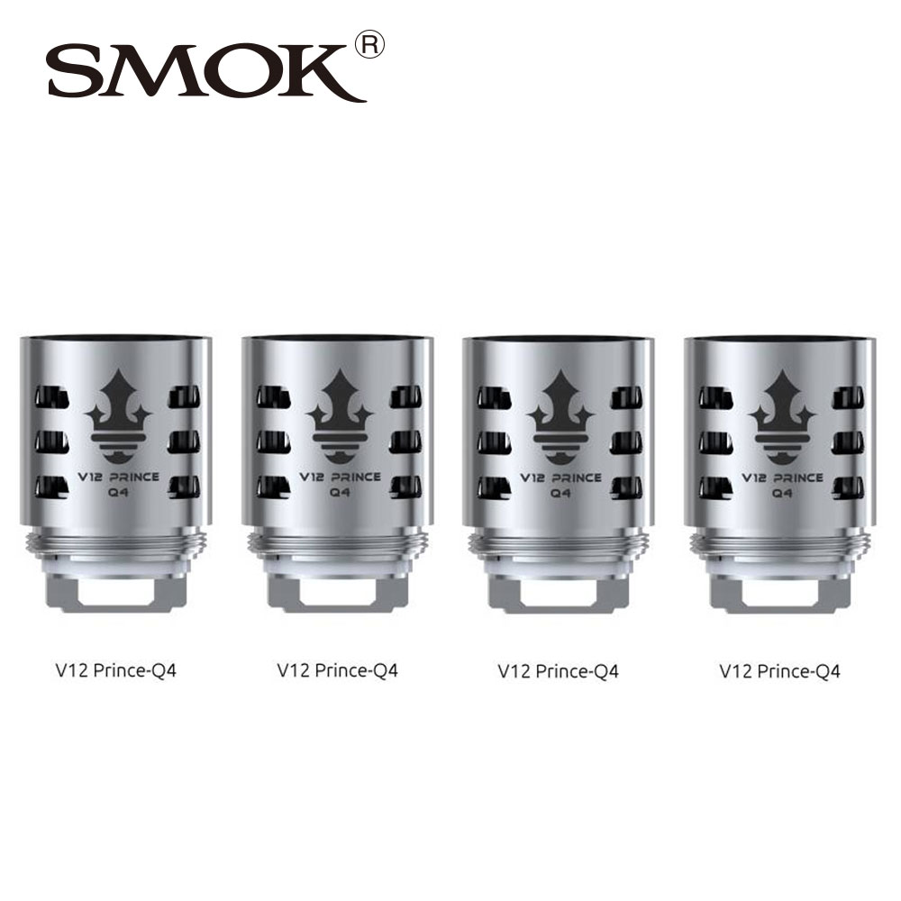 6pcs SMOK TFV12 PRINCE Replacement Coil Q4/X6/T10/M4/Dual Mesh/ Max Mesh/Strip Coil All Kinds for Tfv12 Prince Tank Atomizer coil hair tie 6pcs