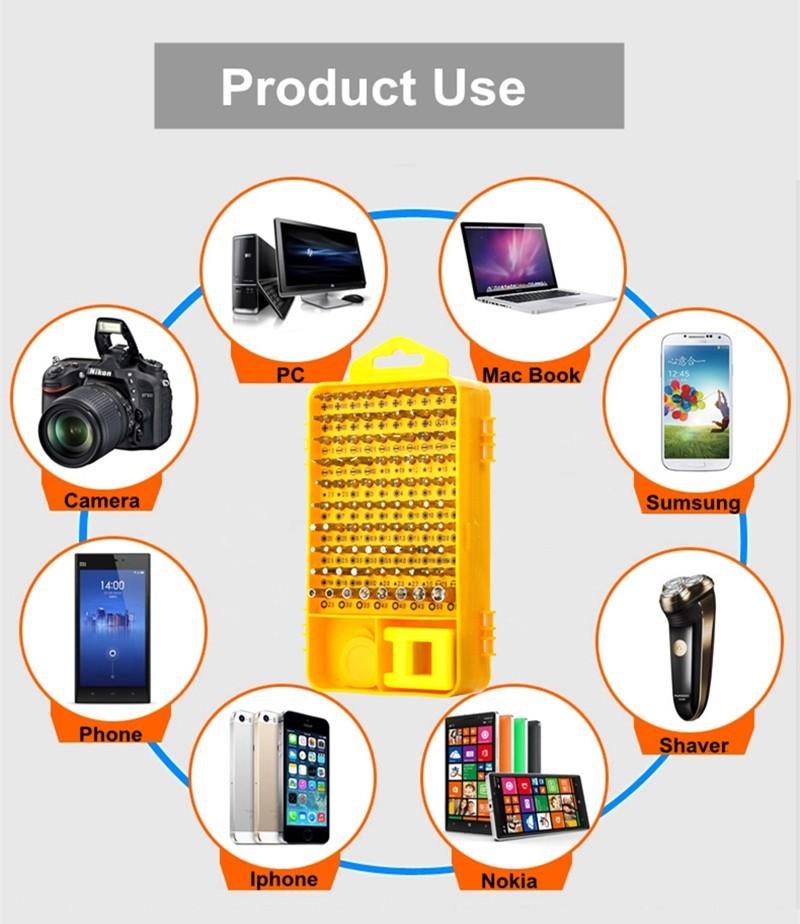 Купить 108 Шт. Прецизионных Отверток Рукав Группа Устанавливает многофункциональный CR-V Компьютерной Цифровой Мобильный Телефон Необходим Ремонт Инструменты дешево