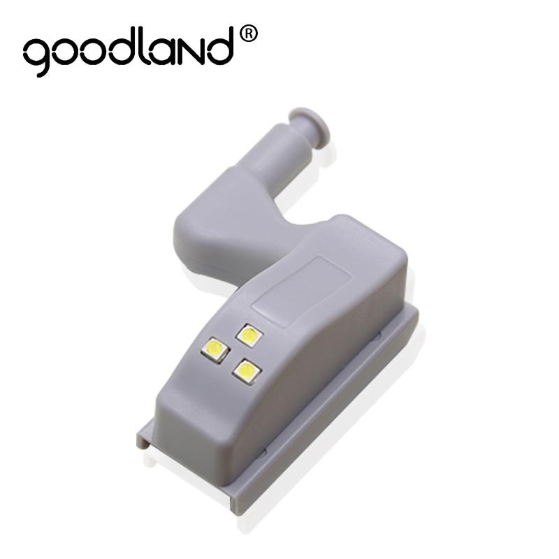 Goodland LED Under Cabinet Light Universal Wardrobe Light Sensor Led Armario Inner Hinge Lamp For Cupboard Closet Kitchen