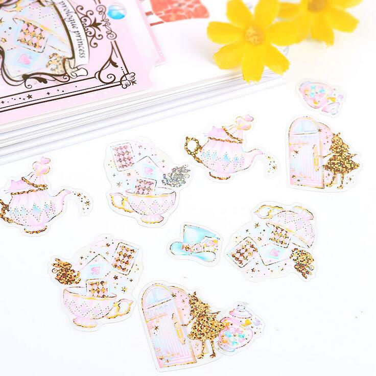 Prologue Princess Fairy Tale Diary Sticker Scrapbook Decoration PVC Stationery DIY Stickers School Office Supply