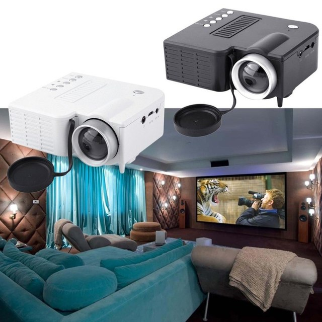 Big Promo UC28A Mini Portable LED Projector 1080P Multimedia Home Cinema Theater USB TF HDMI AV LED Beamer Projector for Home Use