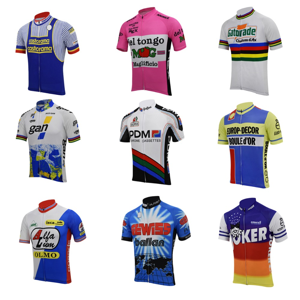 OLMO Retro cycling Short Sleeve Jersey mens Cycling Jersey