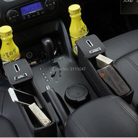 1PC Car Styling Seat Crevice Storage Box Holder Organizer for octavia a7 ford focus mk3 kia peugeot 407 nissan fiat 500 tipo