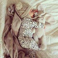 2019 primavera outono bebê menino roupas de algodão manga comprida bebê menino roupas impressão cavalheiro bebê macacão infantil bebês