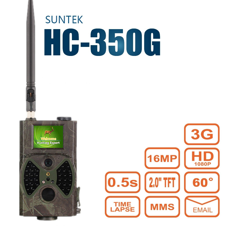 HC350G Hunting Trail Camera 3G HD 16 MP 1080P Video Night Vision MMS GPRS Scouting Infrared Game Hunter Cam SUNTEK HC350G free shipping ip56 waterproof mms gprs night vision trail game hunting camera 0 2s shooting time three sensors cam