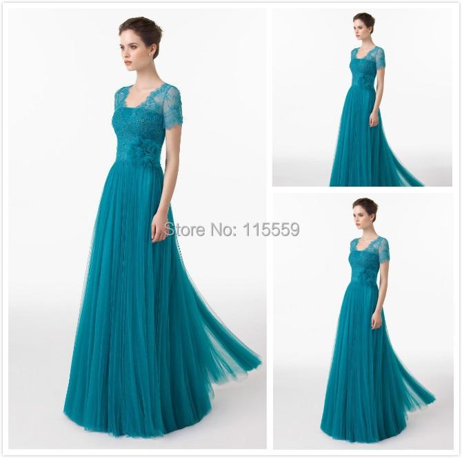 free shipping robe de soiree courte for long lace top organza blue ...