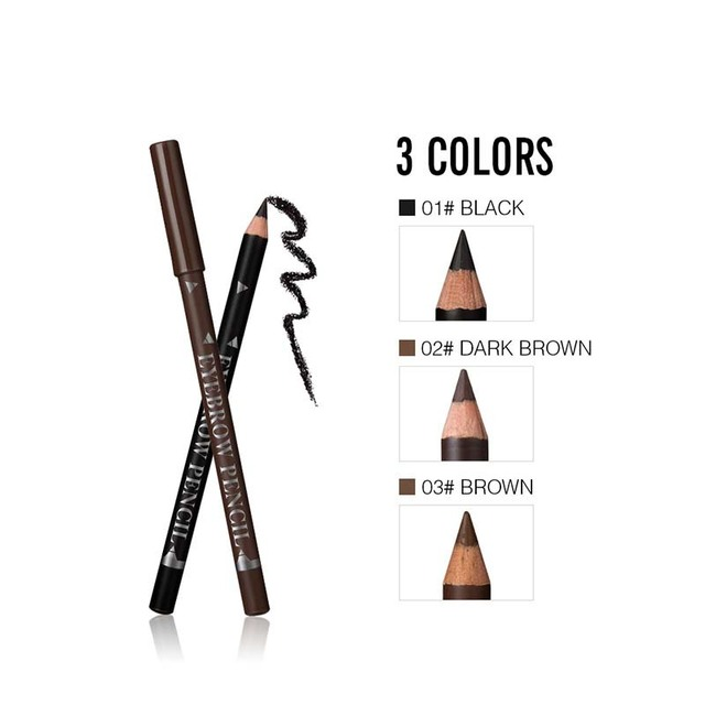 New Makeup MENOW Brand Long Lasting Waterproof Eyebrow Pencils Easy to Wear Black Brown Paint Eye Brow Brand Maquiagem 2