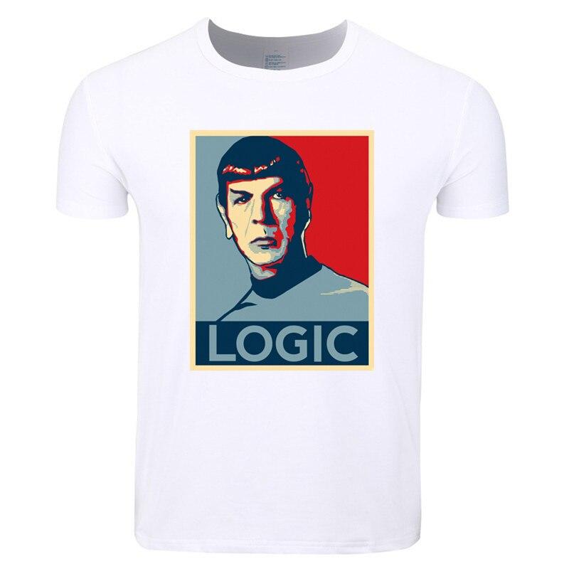 Asian Size Print Star Trek Spock Famous Movie Live Long and Prosper T-shirt O-Neck Short Sleeve Summer Casual T-shirt HCP4325
