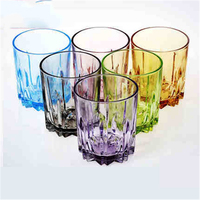 Creative Colored Glass Water Cups Small Glass Bottles Jar Mugs For Beer Fincan Eco friendly Transparent Mugs Cups Round DDQ90