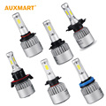 72w/pair H4 H13 8000lm COB Chip Hi-lo Beam Car LED Headlight Bulb H7 HB3 9005 HB4 9006 H9 H11 H8 6500k For Lada Granta Hyundai