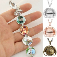 5 COLORS Expanding Photo Locket Necklace Pendant Angel Wings Gift Jewelry Decoration Wholesale 10pcs/lot
