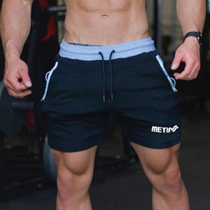 Image 5 - Men Gyms Fitness Bodybuilding Cotton Shorts Summer Style Casual Fashion Skinny Short Pants Man Jogger Workout Brand Sweatpants