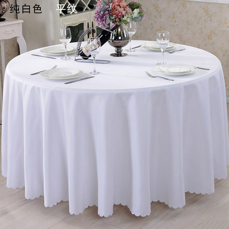 WedFavor 10PCS Polyester Round Table Cloths Wedding Table Linens Banquet Dining Table Covers For Hotel Party