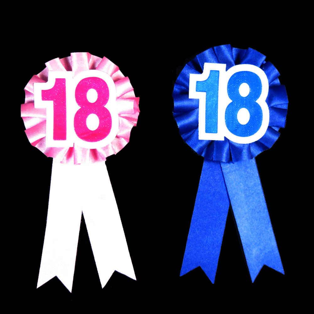 2 шт. на день рождения для мальчиков и девочек 18 21 мужчины женщина партии знак Днем Рождения» брошь событие для вечеринок Забавный подарок вечере