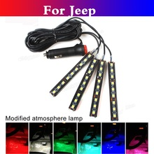 car styling 7Colors Atmosphere Lights Car Interior Decoration Foot LED Lamp For Jeep Liberty Renegade Wrangler Commander