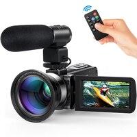 Ночного видения 24MP HD 1080 P lcd сенсорный экран видео камера 16X зум цифровой пульт для видеокамеры управление широкоугольный объектив/микрофон