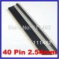 O Envio gratuito de 40 pçs/lote 40 Pin 2.54mm Fêmea Única Linha + 40 P masculino single Row cada 20 pcs Novo em tock Alta qualidade venda quente
