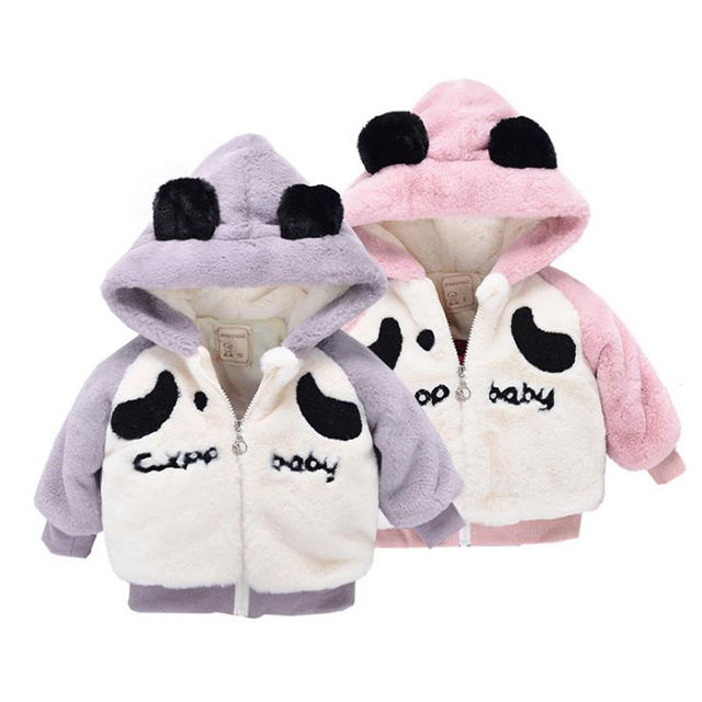 official detailed pictures top design US $12.75 43% OFF|Baby Boys Snow Coat Winter Autumn Clothes Infant Girls  Boys Clothing Newborn Warm Outerwear Toddler Cartoon Panda -in Jackets & ...