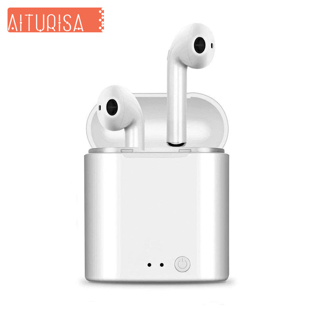 Bluetooth Earbuds i7S Wireless Headphones TWS Headsets Stereo In Ear Earphones With Mic Charging Box for ios and Android Phone-in Bluetooth Earphones & Headphones from Consumer Electronics