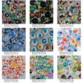 50pcs 16mm round pattern glass cabochon,mixed pictures,flat back,thickness 5mm-100293