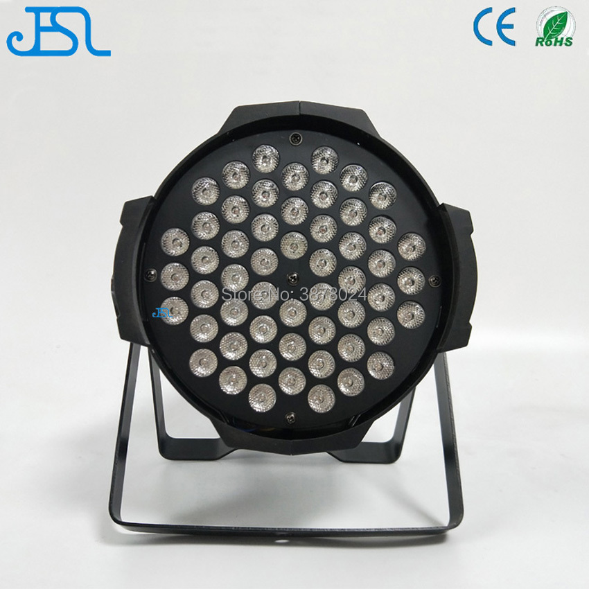 4PCS/LOT Free shipping 54x3w 3in1 DMX 54x3w rgb 3in1 par can led par 64 led par light eurolite led par 64 rgb 36x3w short silver
