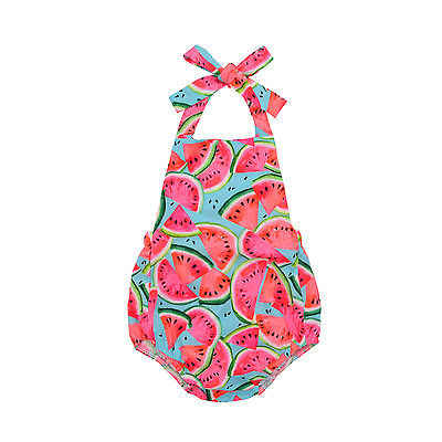 Toddler Baby Kids Girls Watermelon Rompers Jumpsuit Outfits Sunsuit One-pieces